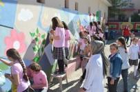 İLKÖĞRETİM OKULU - Öğrenciler Okul Duvarlarını Resimleriyle Güzelleştirdiler