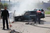 Seyir Halindeki Otomobilde Yangın Çıktı