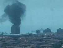 ATAKÖY - Ataköy'de şantiyede yangın