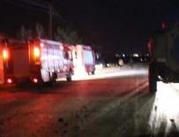 Mardin'de polis aracı devrildi