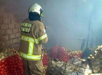 Patates Deposunda Korkutan Yangın