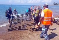 ARABA LASTİĞİ - Deniz'den 80 Kiloluk İskele Demiri Çıkarıldı