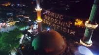 CAMİİ - Eyüp Sultan'da İlk Teravih Havadan Görüntülendi