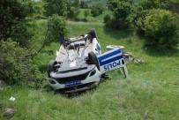 EVLİYA ÇELEBİ - Kütahya'da Polis Aracı Devrildi Açıklaması 2 Yaralı