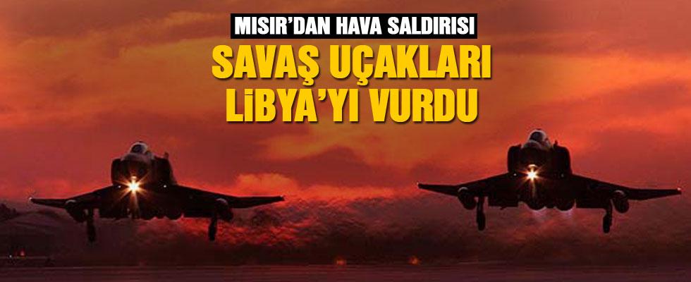 Mısır'dan Libya'ya hava saldırısı!