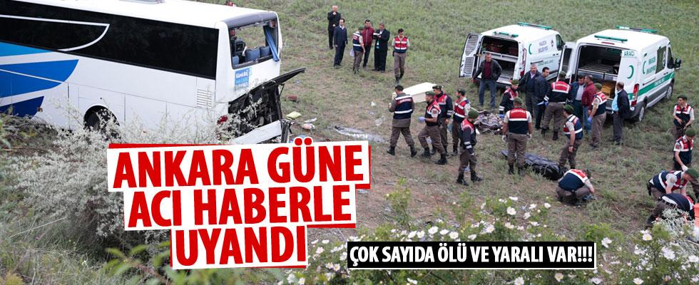 Ankara - Çankırı karayolunda otobüs kazası: 8 ölü, 32 yaralı