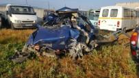 DİREKSİYON - Aydın'da Trafik Kazası; 1 Ölü, 2 Yaralı