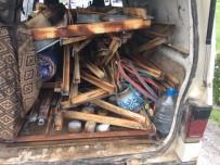 OKSİJEN TÜPÜ - Mermer Ocağındaki Demir Elektrik Direklerini Kesen 2 Kişi Suçüstü Yakalandı