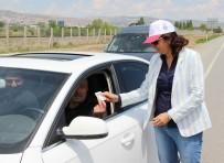 TRAFİK TESCİL - Sivas'ta Kadınlar Trafik Uygulaması Yaptı