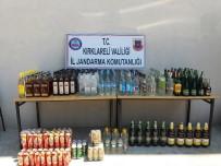 KAÇAK İÇKİ - Kırklareli'de 289 Şişe Kaçak İçki Ele Geçirildi