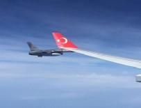 TÜRK HAVA KUVVETLERI - Cumhurbaşkanı Erdoğan'ın uçağına F-16'lar eşlik etti
