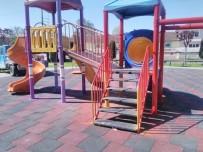 KOÇYAZı - Oyun Parklarında Kauçuk Zemin Yapılıyor