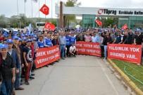İŞ BIRAKMA EYLEMİ - Petrol-İş Üyeleri İş Bıraktı
