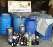 KAÇAK İÇKİ - Manisa'da 10 Bin Litre Kaçak İçki Ele Geçirildi