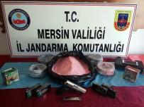 KURUSIKI TABANCA - Mersin'de Patlayıcı Madde Hırsızlığı