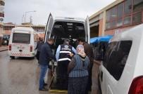 KOZANLı - Refakatçi Eşliğinde Dilenen Engelli Dilenciye Gözaltı