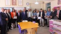 Burhaniye' De Kütüphaneye Destek Olan İş Adamlarına Teşekkür Belgesi