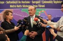 İMZA TÖRENİ - İstanbul'a Yapılacak Yeni Metro Çalışmalarının İmzaları Atıldı