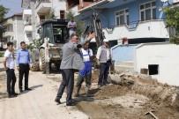 KERVAN - Vezirhan'da Elektrik Hatları Yer Altına Alınıyor