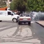 Patlayan Su Borusunu Sürücüler Oto Yıkamaya Çevirdi