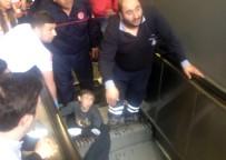 ZINCIRLIKUYU - Bacağı Yürüyen Merdivene Sıkışan Çocuktan İyi Haber