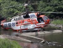 YÜKSEK GERİLİM - Helikopter Yüksek Gerilim Hattına Çarptı