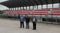 Başkan Şahiner Yeni Stadyumu İnceledi