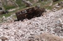 Hafriyat Kamyonu Uçuruma Yuvarlandı Açıklaması 1 Yaralı