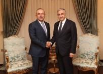 MUHALEFET PARTİLERİ - Cumhurbaşkanı Akıncı, Bakan Çavuşoğlu'nu Kabul Etti