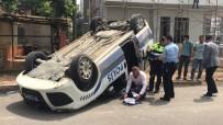 EMNIYET ŞERIDI - Kaza Yapan Polis Aracı Ters Döndü