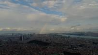 GÖKKUŞAĞI - İstanbul Semalarında Beliren Gökkuşağının Eşsiz Manzarası Havadan Görüntülendi