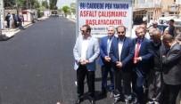 SU ŞEBEKESİ - Erciş'te Sıcak Asfalt Çalışması