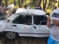 BOĞULMA TEHLİKESİ - Antalya Kemer'de feci kaza! Aracın içine sıkıştı..