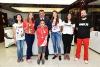 SU SPORLARI - Başarılı Sporcular Başkan Gürkan'ı Ziyaret Etti