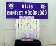 Kilis'te Bin 400 Paket Kaçak Sigara Yakalandı