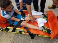 SERVERGAZI - Oyun Oynarken Bacağına Demir Saplandı