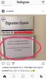 ERCIYES - 'Görüşmek İstemiyorum' Yazan Akademisyene Sosyal Medya Cezası