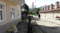 KERVAN - Vezirhan Beldesinde Elektrik Nakil Hatları Yer Altına Alınıyor