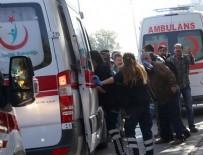 PATLAMA ANI - Ankara'da bir işyerinde patlama