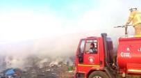 Gömeç'te Çöp Yangını Sahili Duman Altında Bıraktı