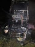 MERMER FABRİKASI - Sandıklı'da Traktör Yangını