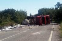KİMYASAL MADDE - Manisa Valiliği, Sülfürik Asit Yüklü Tanker Kazasıyla İlgili Açıklama Yaptı