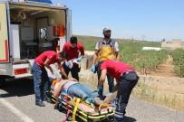 PATLAMA SESİ - Otomobil Şarampole Uçtu Açıklaması 2'Si Ağır 4 Yaralı