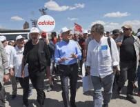 MALTEPE CEZAEVİ - PKK yöneticileriyle görüşen Hasan Cemal Adalet Yürüyüşü'nde