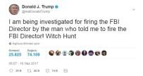 TRUMP - Trump Açıklaması 'FBI Direktörünü Kov Diyen Adam Tarafından Soruşturuluyorum'