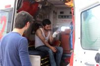 Üzerine Cam Düşen İşçi Yaralandı