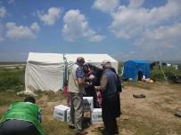 Aslanapa'da Çalışan Mevsimlik İşçilere İHH Yardımı