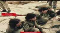Kadın PKK'lıların teslim olma anı
