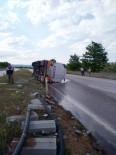 Mazot Yüklük Tanker, Yolda Yan Yattı