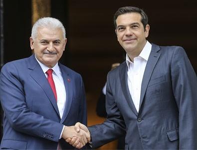 Başbakan Yıldırım ve Çipras'tan ortak açıklama